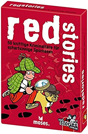 moses Juego de Cartas Black Stories Junior Red Stories en alemán, 50 Casos Criminales complicados para ingeniosos Detectives, desafíos para niños: Harder, Corinna: Amazon.es: Juguetes y juegos
