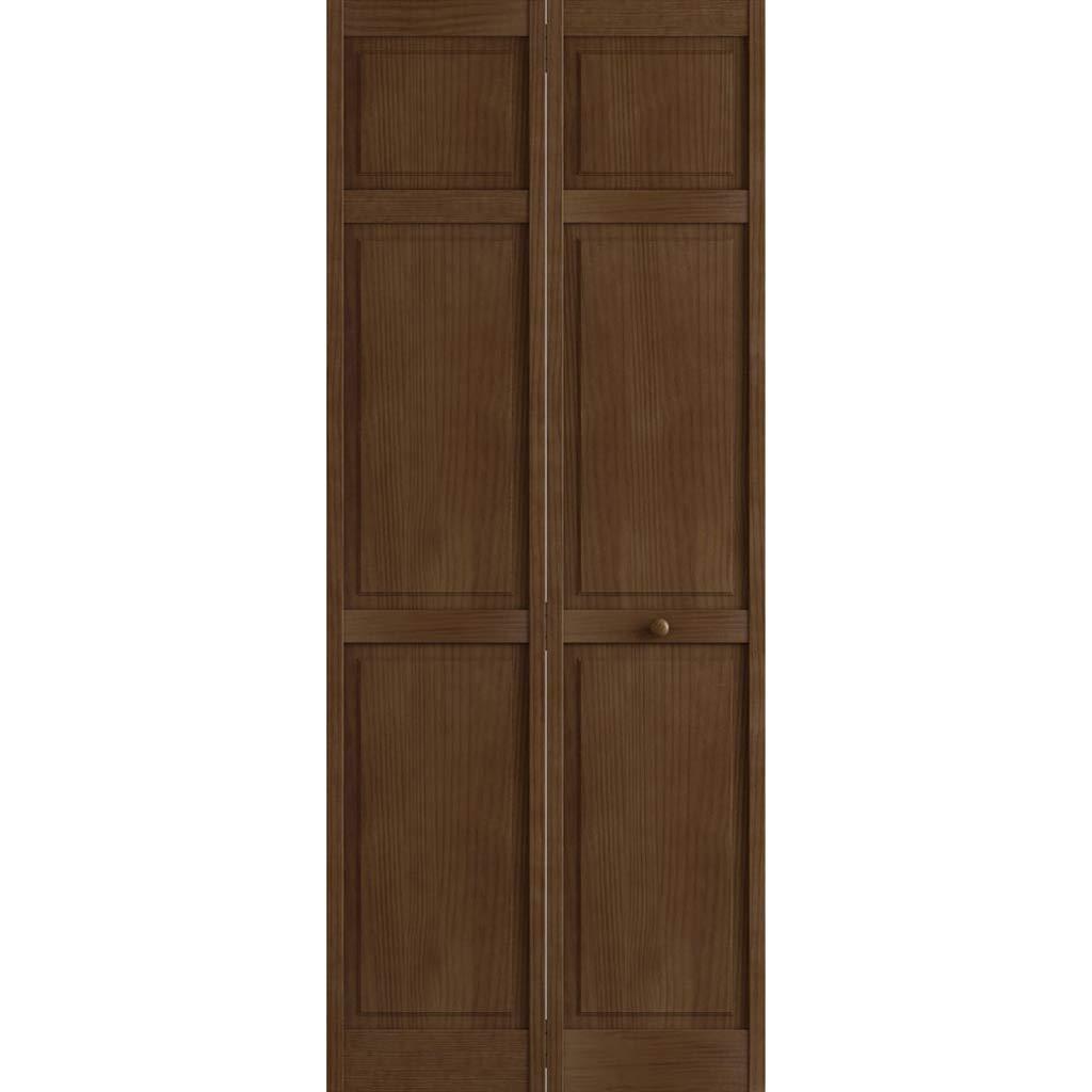 Kimberly Bay Traditional Six Panel Espresso Solid Core Wood Bi-fold Door (80x30) by Kimberly Bay TM