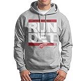 DET Red Wings RUN-CTY Hockey Men's Blank Hoodies SweatShirt