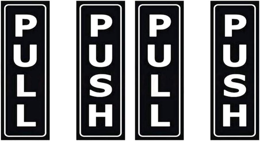 TOYANDONA Door Sign Stickers Push Pull Door Sign for Hotel Restaurant Supermarket 4Pcs