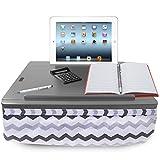 iCozy Portable Cushion Lap Desk with Storage - Grey Chevron