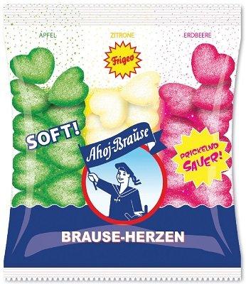 Frigeo Ahoj Brause Sour Gummies Herzen 200g (5-pack)