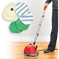 Floor Cleaning Machine Cleaner Light Cleaning Mini Buffer Scrubber Polishes Most Surfaces Including Carpet, Wood, Cement, Tile, Patios, Garages, Decks, Warehouses, Storage Units, Car Dealership Showrooms, Retail Stores, Schools, Daycares, RVs, Motorhomes