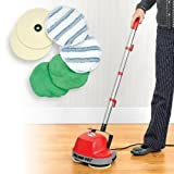 floor buffer scrubber - Floor Cleaning Machine Cleaner Light Cleaning Mini Buffer Scrubber Polishes Most Surfaces Including Carpet, Wood, Cement, Tile, Patios, Garages, Decks, Warehouses, Storage Units, Car Dealership Showrooms, Retail Stores, Schools, Daycare's, RVs, Motorhomes