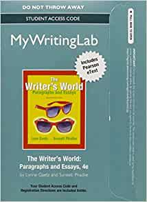 The writers world paragraphs and essays 4th edition used
