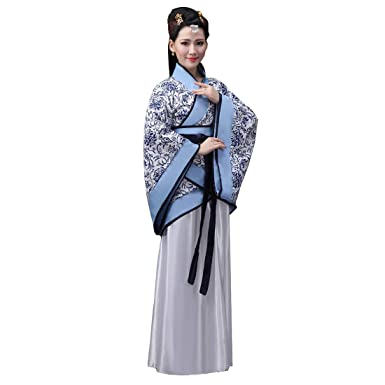 9ac24f7c0 Ez-sofei Women's Ancient Chinese Han Dynasty Traditional Costume Set Hanfu  Dresses S