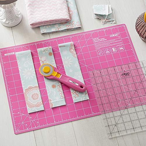 Olfa Splash Rotary Cutter 45mm Fairy Floss Pink