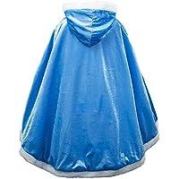 Shiny Toddler Little/Big Girls Velvet Wraps Cape Kids Bolero Wedding Princess Cloak Dress Coat