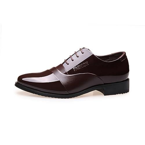 Zapatos de Cuero para Hombres Zapatos de Moda para Hombres Trabajo Formal de Negocios Mocasines cómodos