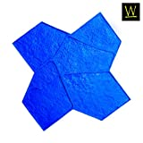 Wisconsin Flagstone Concrete Stamp Single by Walttools | Decorative Random Stone Tile, Rotational Pattern, Sturdy Polyurethane Texturing Mat, Realistic Detail (Blue, Rigid)