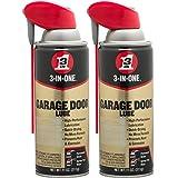 3-in-ONEProfessional Garage Door Lubricant with Smart StrawSprays 2 Ways, 11 OZ Twin Pack, 100584 (Tamaño: Twin pack)