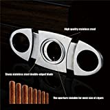 Monsiter Cigar Cutter Stainless Steel Double Cut