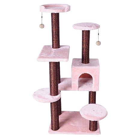 Daeou Árbol para Gatos rascador Gato de Columna cartón Vidrio Grande Saltar Juguete de Gato Grab