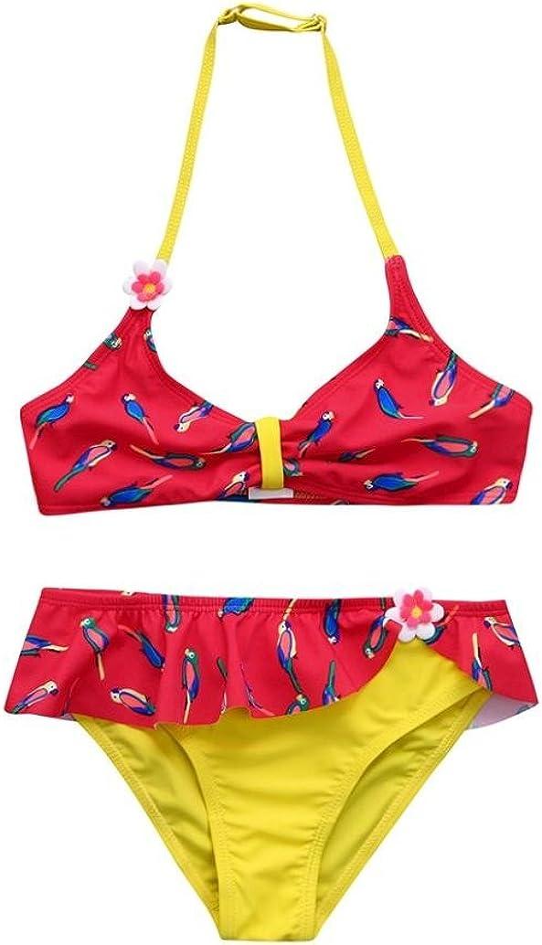 Goodtrade8 Toddler Baby Girl Halter Tube Top+Ruffle Bottom Bikini Set Two-Piece Swimsuit Bathing Suit Swimwear