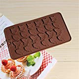 Witkey 24 Cavity Maple Leaves Silicone Ice Cube Tray Fondant Moulds Chocolate Molds Soap Decorating Molds