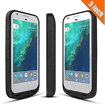 27edd8050e255a ICONIC Google Pixel 1 Battery Case 2016, 4000mAh Pixel Charger Charging Case  External Protective Battery Pack for Google Pixel 1st Gen (5 inch Black)