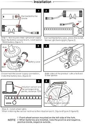Cutowin DIY LED Rueda de Bicicleta luz radios USB Recargable ...