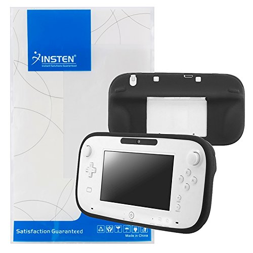 eForCity® Full Protection Silicone Skin Back Cover Case Compatible With Nintendo Wii U, Black