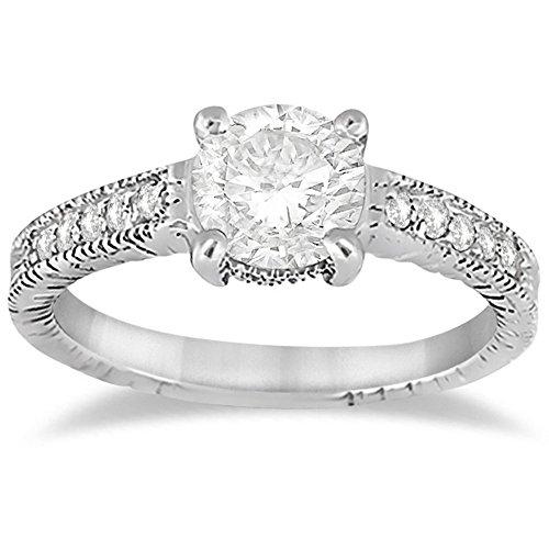 Antique Diamond Vintage Engagement Ring Setting Bridal Ring For Women Wedding Palladium -