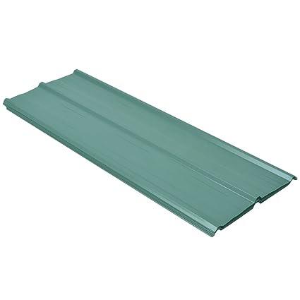 vidaXL Panel para Tejado Caseta de Acero Galvanizado Verde 12 Piezas 129 x 45 cm