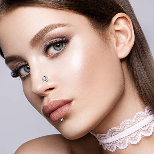 Chinco 32 Pieces C Shaped Nose Ring L Shaped Hoop Tragus Import