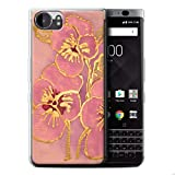 STUFF4 Gel TPU Phone Case / Cover for Blackberry KeyOne/BBB100 / Baby Pink Design / Floral Silk Effect Collection
