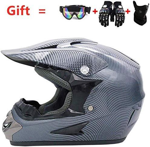 モトクロスヘルメットマウンテンオートバイレースのフルヘルメット男性と女性フォーシーズンズユニバーサル模造カーボンファイバー