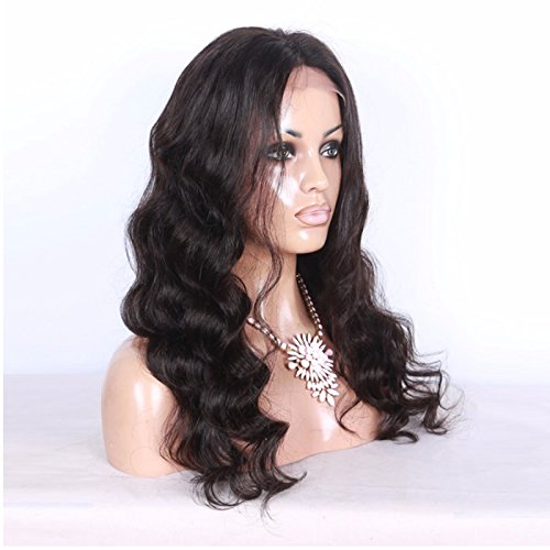 Doubleleafwig Body Wave Lace Front Human Hair Wigs-Glueless 130% Density Brazilian Virgin Remy Full Lace Wigs with Baby Hair For Black Woman 10-26 Inches 1B Color