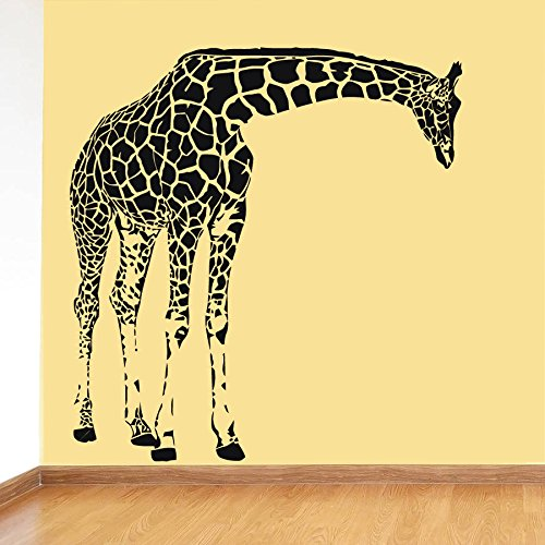 CreativeWallDecals Wall Decal Vinyl Sticker Decals Art Decor Design Giraffe Animals Jungle Safari Kids Children Nursery Baby Living Room Bedroom Modern(r614)