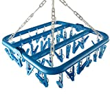 Groupcow Clip and Drip Hanger Clothes Hanger Drying Rack 32 Clips