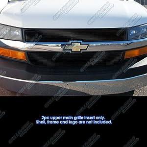 Fits 2003 2016 Chevy Express Explorer Conversion Van Black Billet Grille C66436H