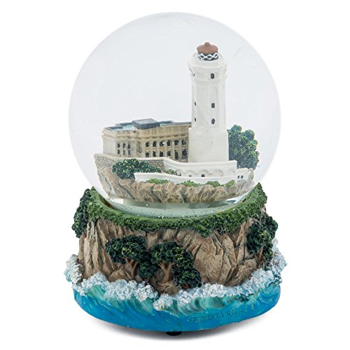 Lighthouse by the Sea 100MM Music Water Globe Plays Tune By the Beautiful Sea