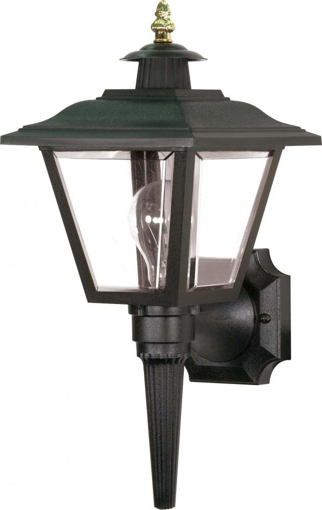Nuvo SF77/896 Coach Wall Lantern with Acrylic Panels, Black