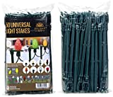 Holiday Joy 50 Universal Light Stakes Holiday String Lights on Yards, Lawns, Driveways & Pathways - 8.5'' Tall - New Improved Model