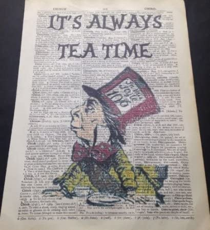 LEWIS CARROLL  Alice in Wonderland ❤ typography book quote poster MAD print #198