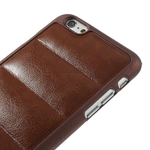 Coque de protection Apple iPhone 6S 6Plus Housse étui Case Soft Cuir Rétro Marron decui Marron plastique rigide Coque