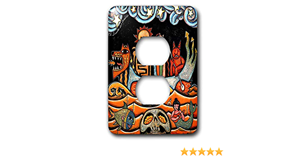 3drose Llc Lsp 21127 6 The Devil S Dream Folk Art Skulls Mexican Colorful Surrealism 2 Plug Outlet Cover Switch And Outlet Plates Amazon Com