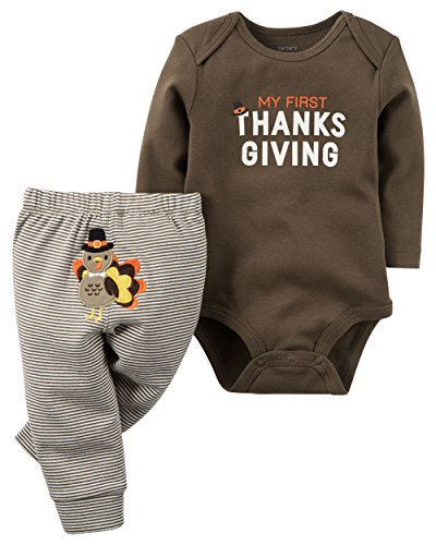 Carters First Christmas Thanksgiving Unisex