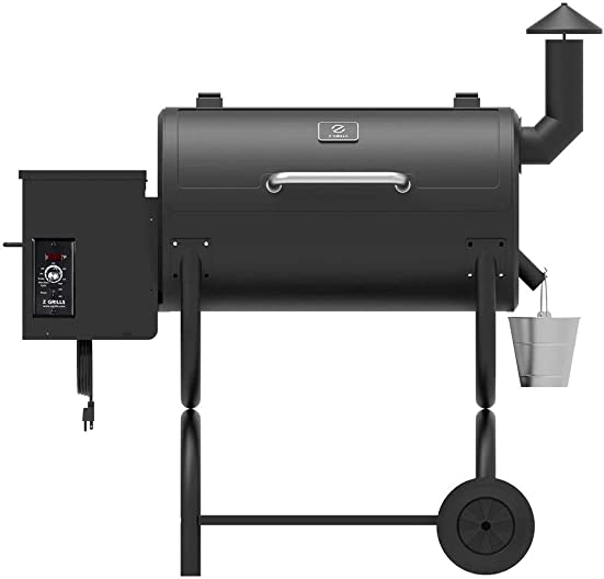 Z GRILLS Wood Pellet Grill Holiday 8-in-1 BBQ Smoker with PID Controller for Outdoor Cooking 550SQIN Barbecue Area 10LB Hopper