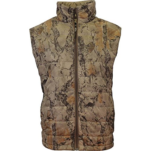 Natural Gear Camo Hunting Vest for Men and Women, Hunting Gear for Elk, Duck, Deer, or Hog Hunting, Women's and Men's Full-Zip Synthetic Down Camo Vest (XXX-L) by Natural Gear