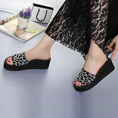 Slope Slippers Platform Summer Ladies Sliders Soft Bath Gray Women HARRYSTORE Wedge Flops Sandals Flops Slippers Heel Slippers Roman Beach Summer High Flip Shoes 6gqwnE8
