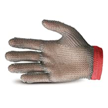 Superior Glove Works GU-500 Stainless-Steel Mesh Universal Five-Finger Chain Mail Glove, Work, Cut-Resistant, X-Large
