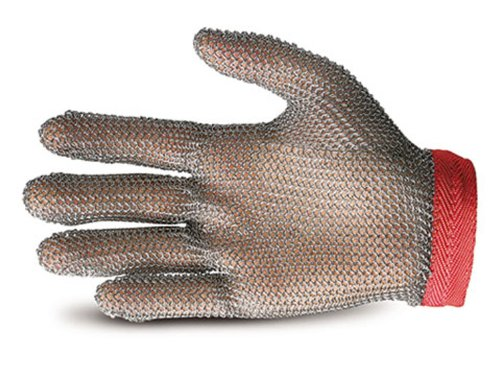 Superior GU-500 Stainless-Steel Mesh Universal Five-Finger Chain Mail Glove, Work, Cut Resistant, Small