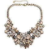 Fsmiling Vintage Gold Tone Collar Chain Sparkly Crystal Choker Necklace Party