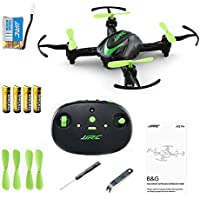 JJRC H48 B&G Mini Quadcopter Pocket Drone 3D Flip and Rolls 2.4Ghz 4CH 6-Axis Gyro RC Nano Quadcopter Palm Size Mini Drone with Led Lights Easy Playing-Green