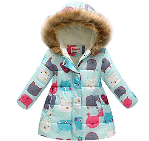 a8f5dec70e21 Jual Miss Bei Girl s Kids Toddler Winter Flower Print Parka Outwear ...