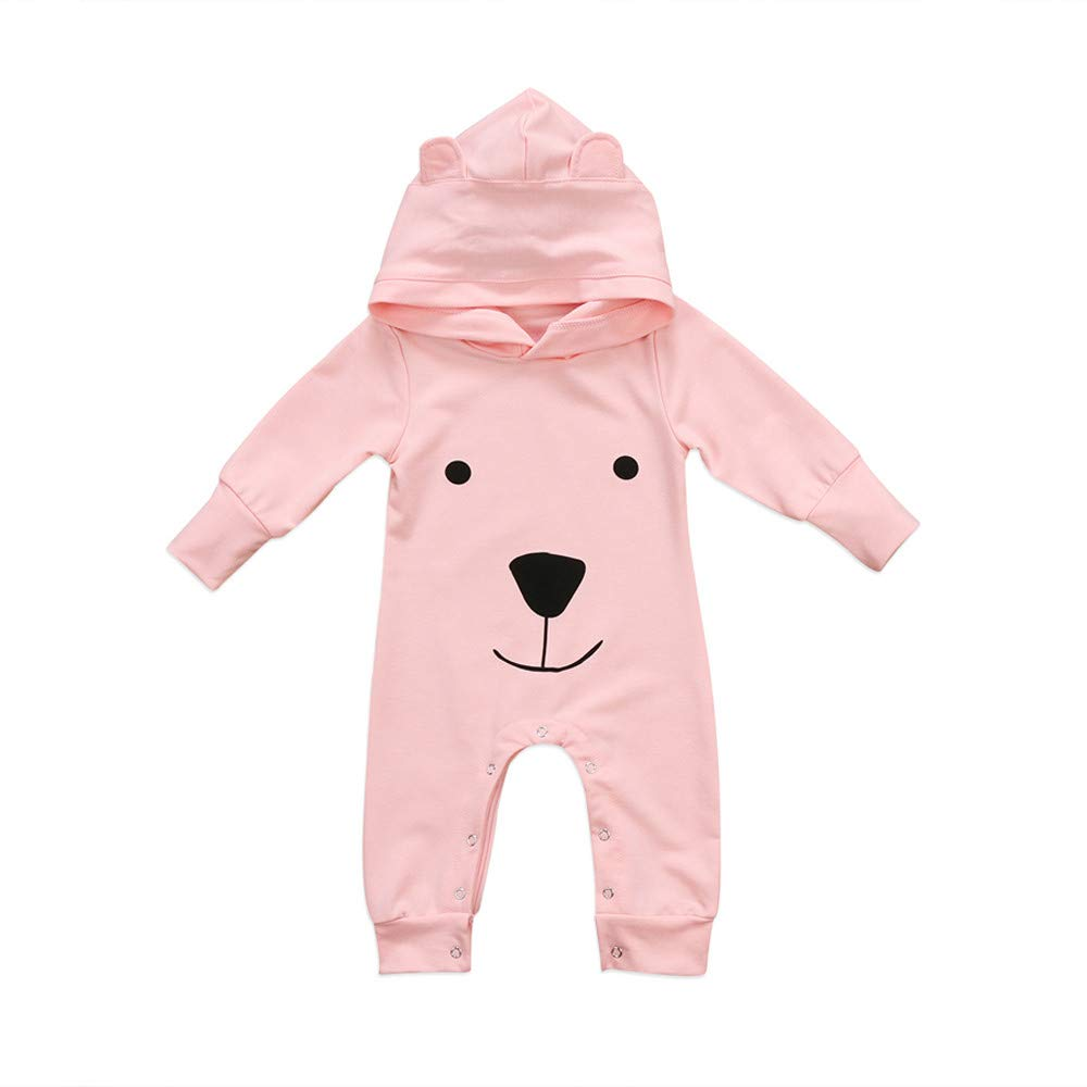 ALIKEEY Baby Clothes, Newborn Infant Baby Boy Girl Hooded Cartoon Romper Jumpsuit Outfits Clothes ALIKEEY01