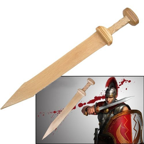 Wooden Roman Gladius Gladiator Trooper Greek Sword New -
