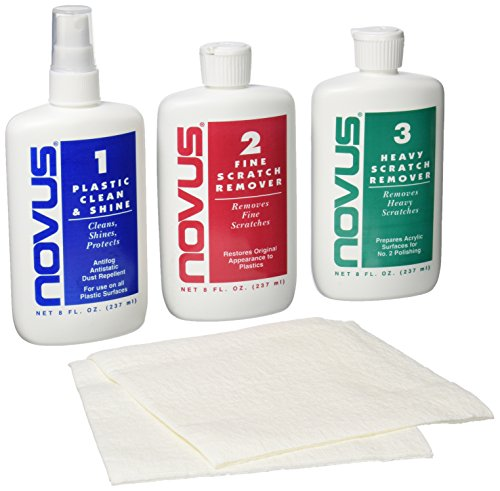 Novus 7100 Plastic Polish Kit - 8 Ounce (Removal Screen Scratch)