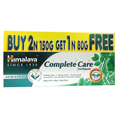 Himalaya Herbals Complete Care Toothpaste – 150 g (Buy 2 and Get 1 Free Worth Rupees 80 g)